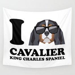 I Love Cavalier King Charles Spaniel modern v1 Wall Tapestry