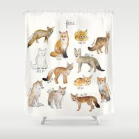 arctic monkeys Shower Curtains featuring Foxes by Amy Hamilton