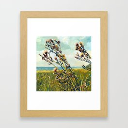 Thistles on the Beach Framed Art Print
