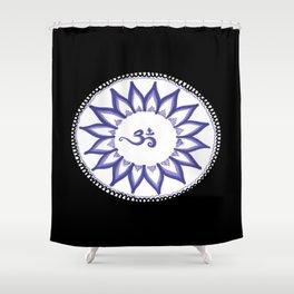 Ohm Flower Shower Curtain