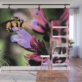 Bee and Flower Wall Mural