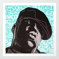 biggie smalls Art Prints featuring Biggie Smalls by Art By Ariel Cruz