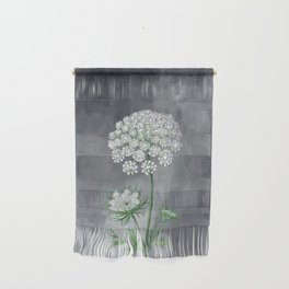 Queen Anne's Lace Flower Painting Wall Hanging