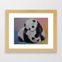 Baby Panda Rumble Framed Art Print