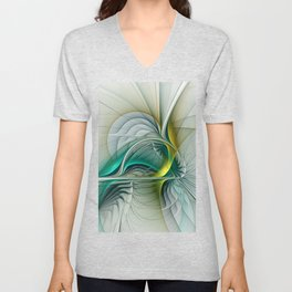 Fractal Evolution, Abstract Art Graphic Unisex V-Neck