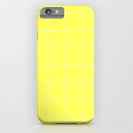 Graph Paper (White & Light Yellow Pattern) iPhone Case