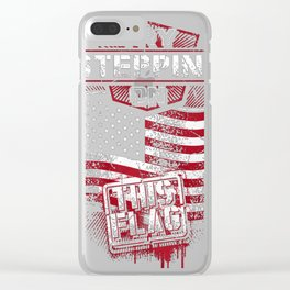 Stepping on this Flag Clear iPhone Case
