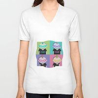 punk V-neck T-shirts featuring Punk? by Maripili