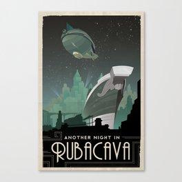 Grim Fandango Vintage Travel Poster - Rubacava Canvas Print