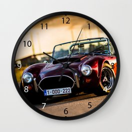 Red car.Classic car Wall Clock