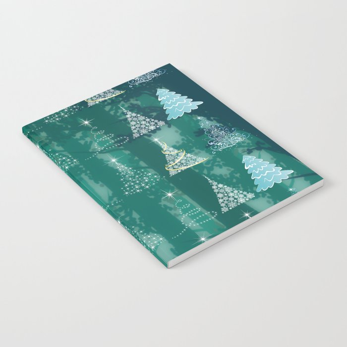 Christmas tree in the forest Notebook