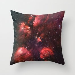 The Cat's Paw Nebula Star Formation Throw Pillow