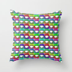 caffeine high Throw Pillow