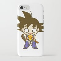 dragonball iPhone & iPod Cases featuring Young Goku with dragonball by Samtronika