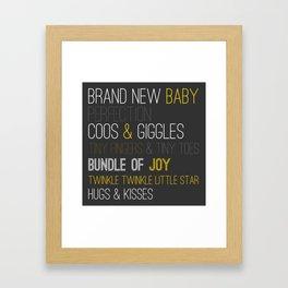 Brand New Baby Framed Art Print