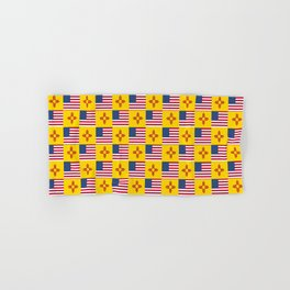Mix of flag: USA and new mexico Hand & Bath Towel