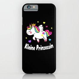 Kleine Prinzessin Einhorn Mädchen Tochter Kinder iPhone Case