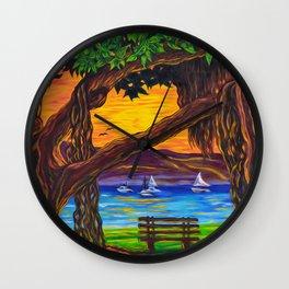 Maui Banyan Bliss Wall Clock