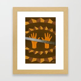 The Intelligence Rule - (ASL Marquetry Series) Framed Art Print