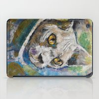 space cat iPad Cases featuring Space Cat by Michael Creese