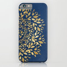 Gold Leaves Mandala iPhone 6s Slim Case