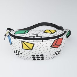 Abstract Memphis Style Pattern Fanny Pack