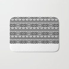 Aztec Geometric Print - Black Bath Mat