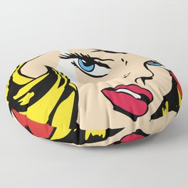 Ribbon Girl (1965) Floor Pillow