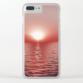 Red sky at night Clear iPhone Case
