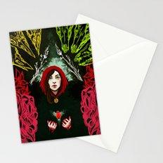 Robin's heart Stationery Cards