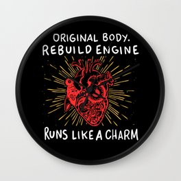 Open Heart Surgery Original Body Rebuilt Engine Runs Like A Charm Gift Wall Clock