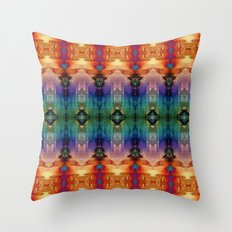 Decorative Orange Blue Abstract Throw Pillow