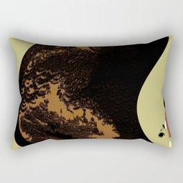 Graffiti Artist staring at his work Rectangular Pillow