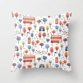 London transport Throw Pillow