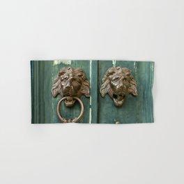 Lion heads of precious metal Hand & Bath Towel