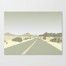 Joshua Tree Park - On the road Canvas Print