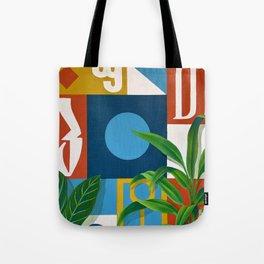 Geo Alphabet #1 Tote Bag