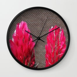 field flowers detail Wall Clock