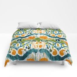 sugarsnap balinese ikat Comforters