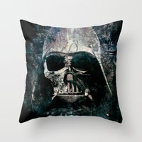 vader Throw Pillows featuring Vader by Sirenphotos