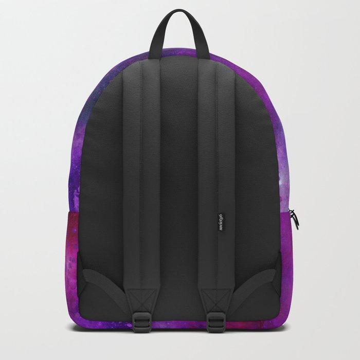 Purple Pink Blue Watercolor Backpack