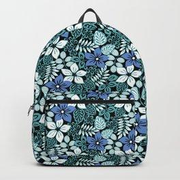 Tropical Floral Aqua Backpack