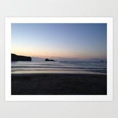 A Cornwall Sunset  Art Print