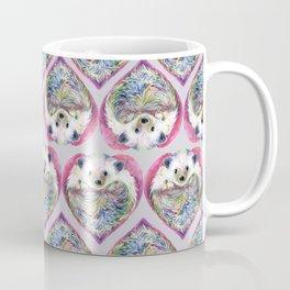 Hedgehog Heart Pattern Coffee Mug