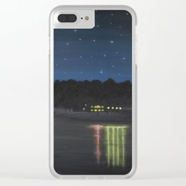 Starry Sky Over Ross Barnett Clear iPhone Case