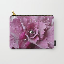 silver and pink  Carry-All Pouch