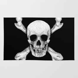 Jolly Roger Pirate Skull Flag Rug