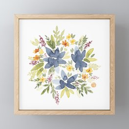 Watercolor Floral Bouquet Framed Mini Art Print