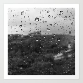 Raindrops on my window Art Print