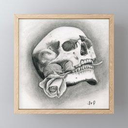 Skull & Rose Framed Mini Art Print